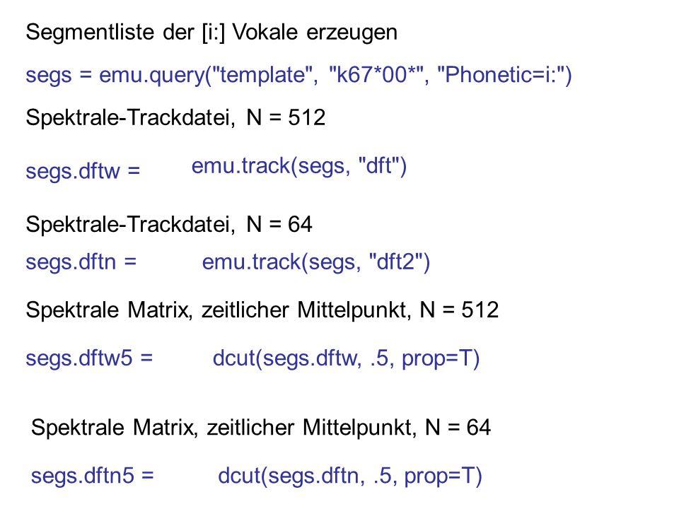 Segmentliste der [i:] Vokale erzeugen